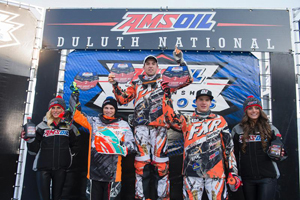 Sunday's Pro Lite podium, L to R: Zak Mason (2nd), Ryan Springer (1st), Andrew Carlson (3rd)