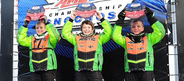 Team Arctic's Anson Scheele (M), Brayden Kernz (L) and Raycer Frank (R)- sweep Duluth. photo by ArcticInsider.com